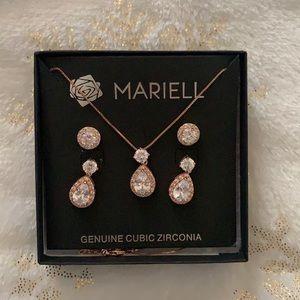 Mariell Pear Shaped Jewelry Set